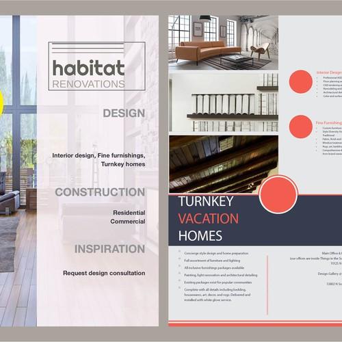Flyer for habitat Renovations