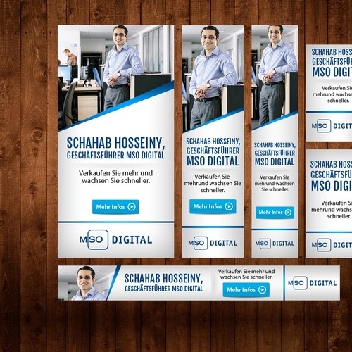 Create clean and innovative Banner Ads for online marketing agency MSO Digital