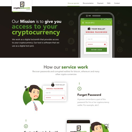 Design a website for cryptolocksmith.com
