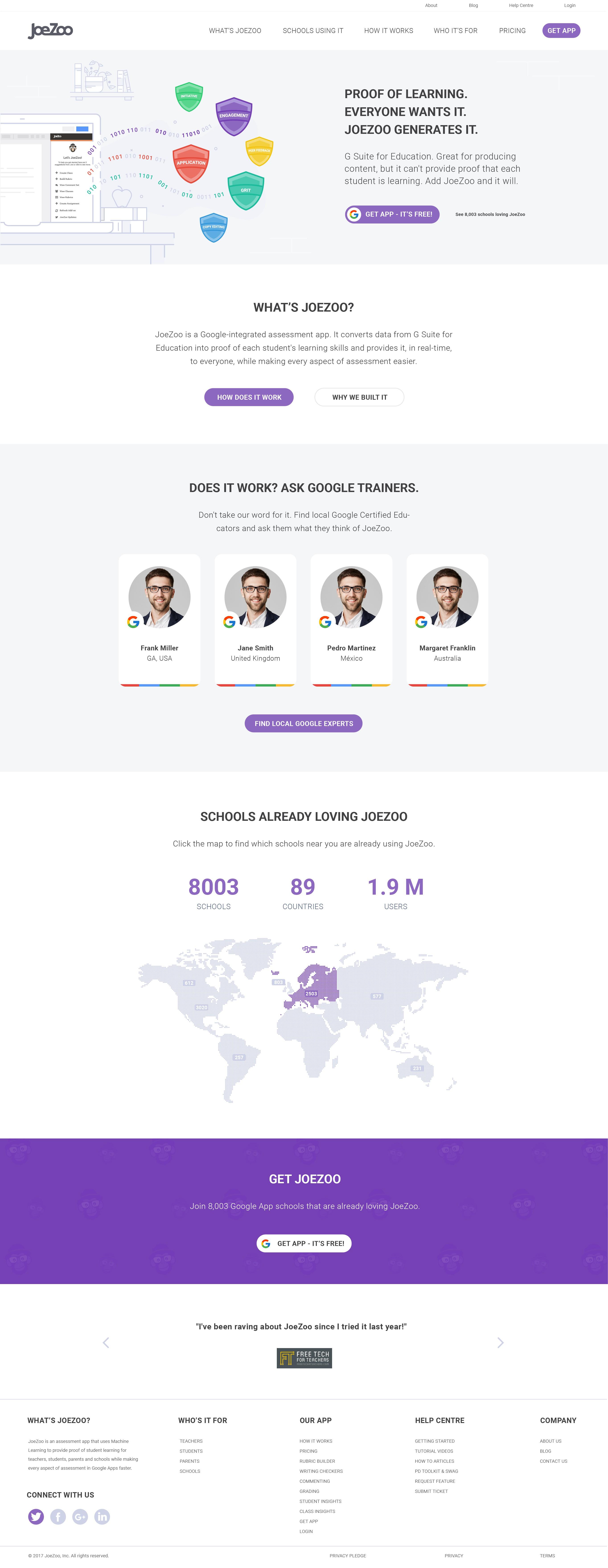 Design a new website for most popular Google integrated app