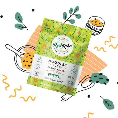 Vegan Noodles Packaging Design