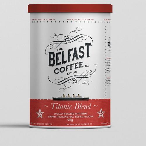 The Belfast Coffee Label Design
