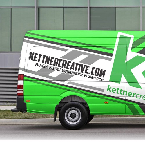 Vehicle Wrap for an Audio Visual/Production Company