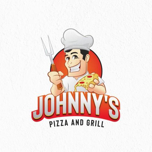 Johhny's Pizza and Grill Logo