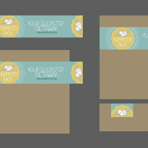 Create a sticker for vacation-themed subscription box service