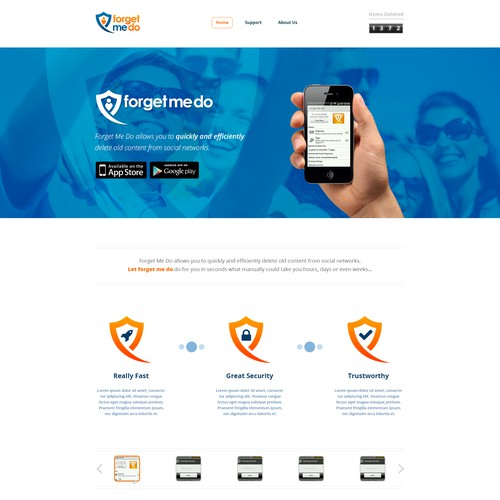 Home Page Design for ForgetMeDo Application
