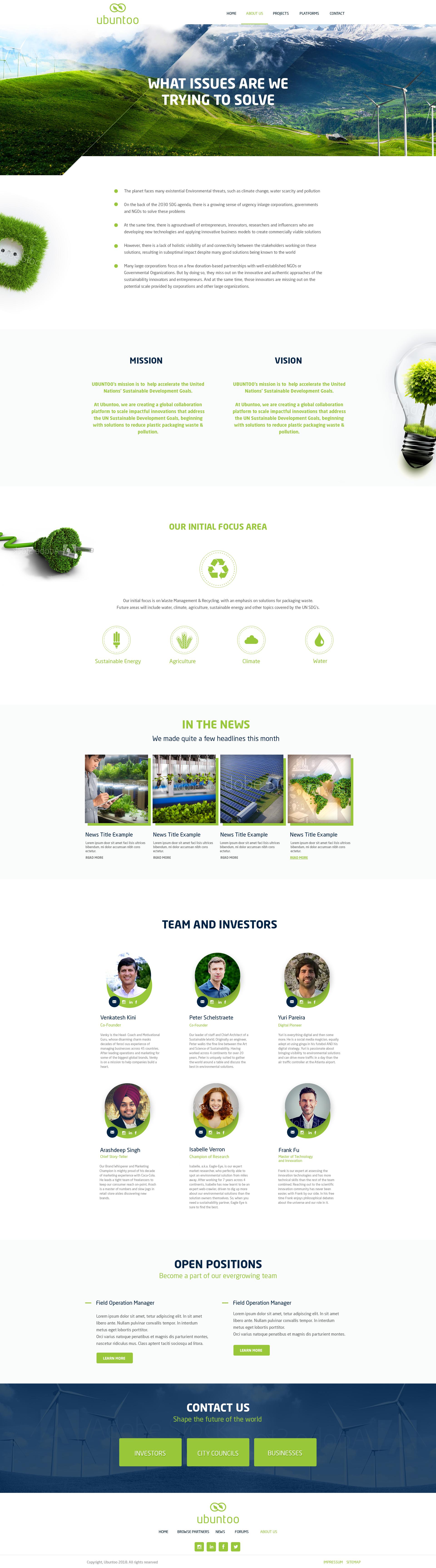 Design a web page 'About Us'