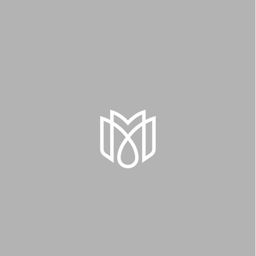 initial mm logo for interior business