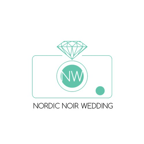 modern logo for wedding photographer