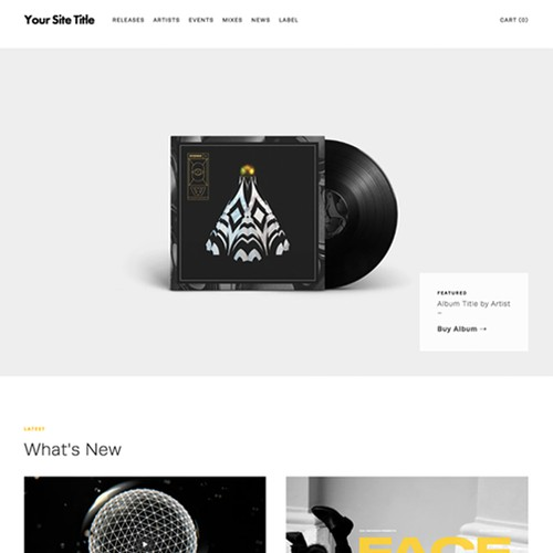 Website & shop for record label