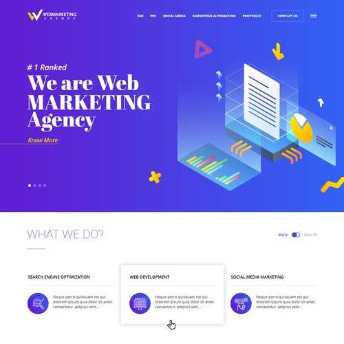 Web Marketing Agency Landing Page