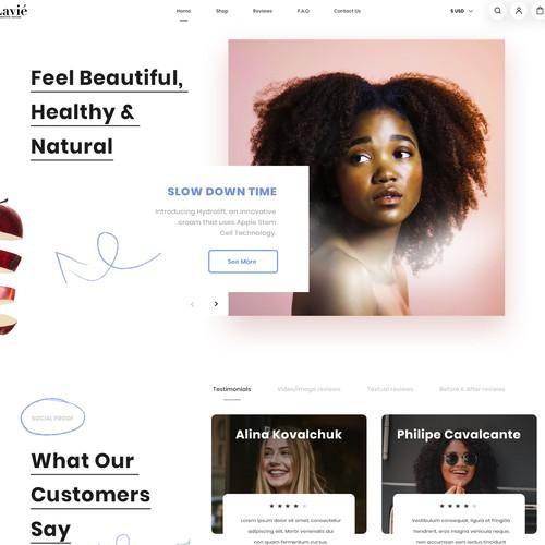 Web design for Lavie