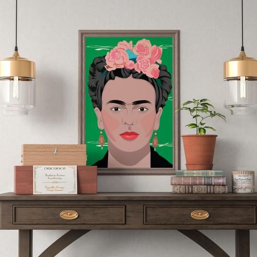 Illustration of Frida Khalo