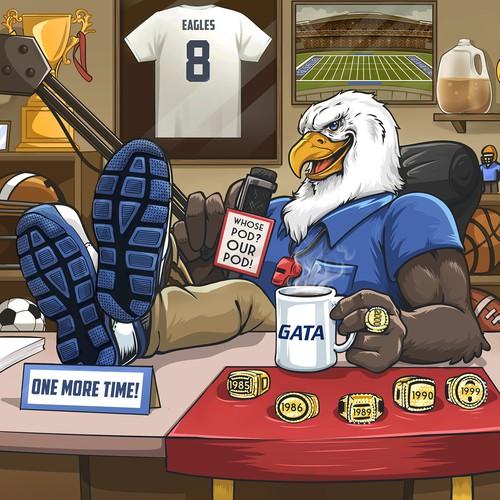 Illustration of Eagle Podcast