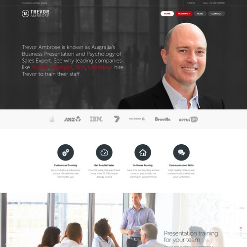 Website design for Trevor Ambrose