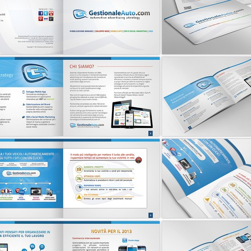 NEW brochure design  for GestionaleAuto.com Srl (http://www.gestionaleauto.com)
