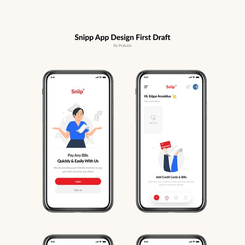Snipp App design