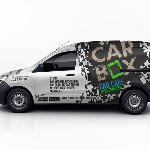 Van wrap for car box