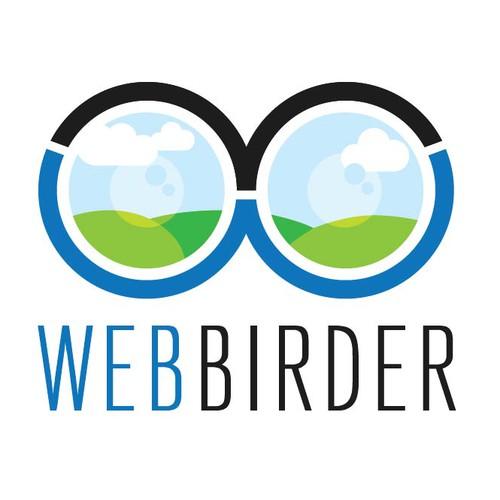 Design a website logo for WebBirder