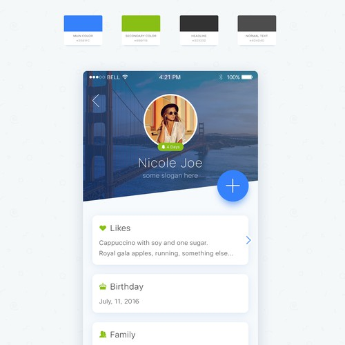 Revere app design
