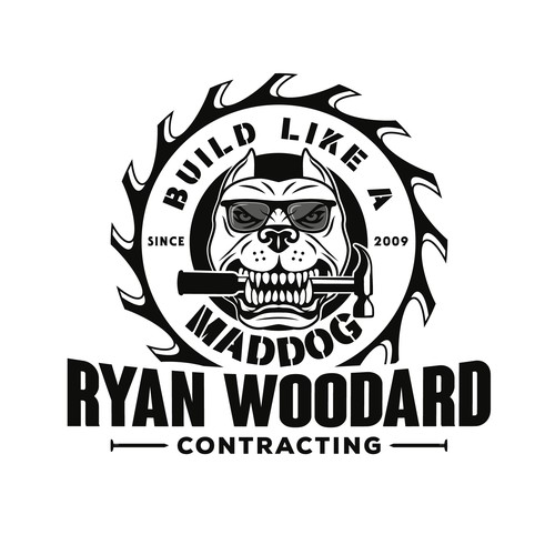 Bold logo for Mad dog Ryan Woodard