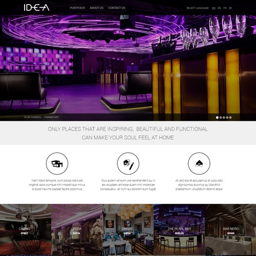 IDEA Website Design