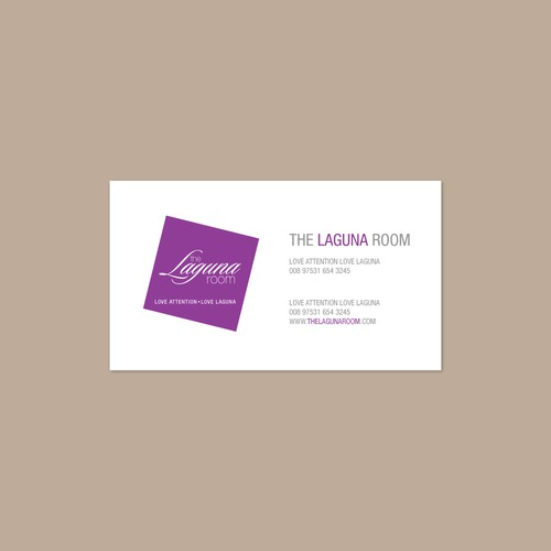 Logo concept #1 for LAGUNA ROOM