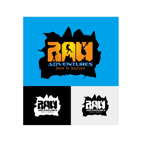 Create the next logo for RAW Adventures