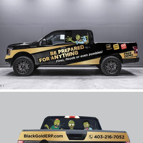 Truck Wrapping design