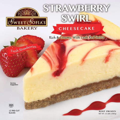 Strawberry Swirl Cheesecake Package Design
