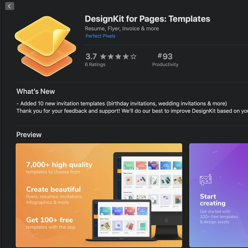 Beautiful MacOS Icon for DesignKit for Pages: Templates