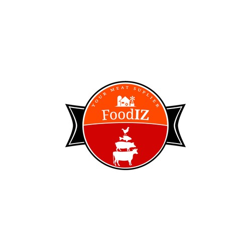 Logo for a meat supling company