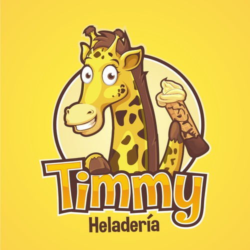 Re-invent Timmy the giraffe and his logo for an ice-cream parlour in Colombia