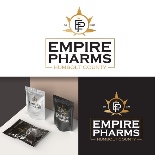 Logo design concept with packaging Mockup