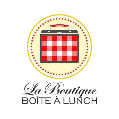 Create a logo for the store La boutique boîte à lunch (lunch box store)