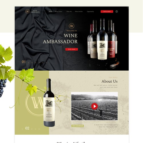 Luxury web site wine club