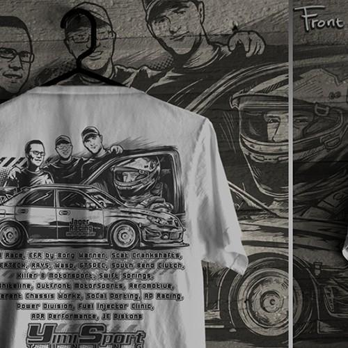 Auto RacingT-Shirt Design