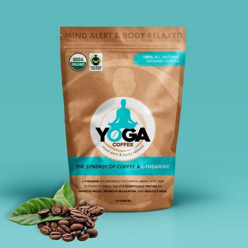 Yoga Coffee Packaging design