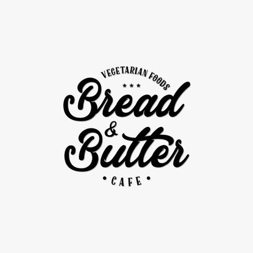 artistic logo design for bread and butter