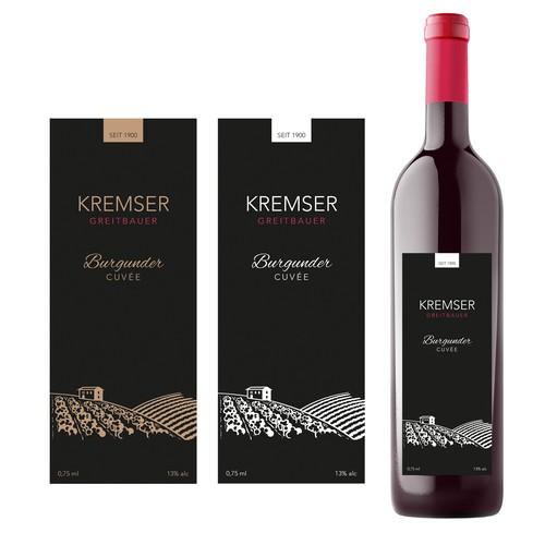 Etikette für Wein