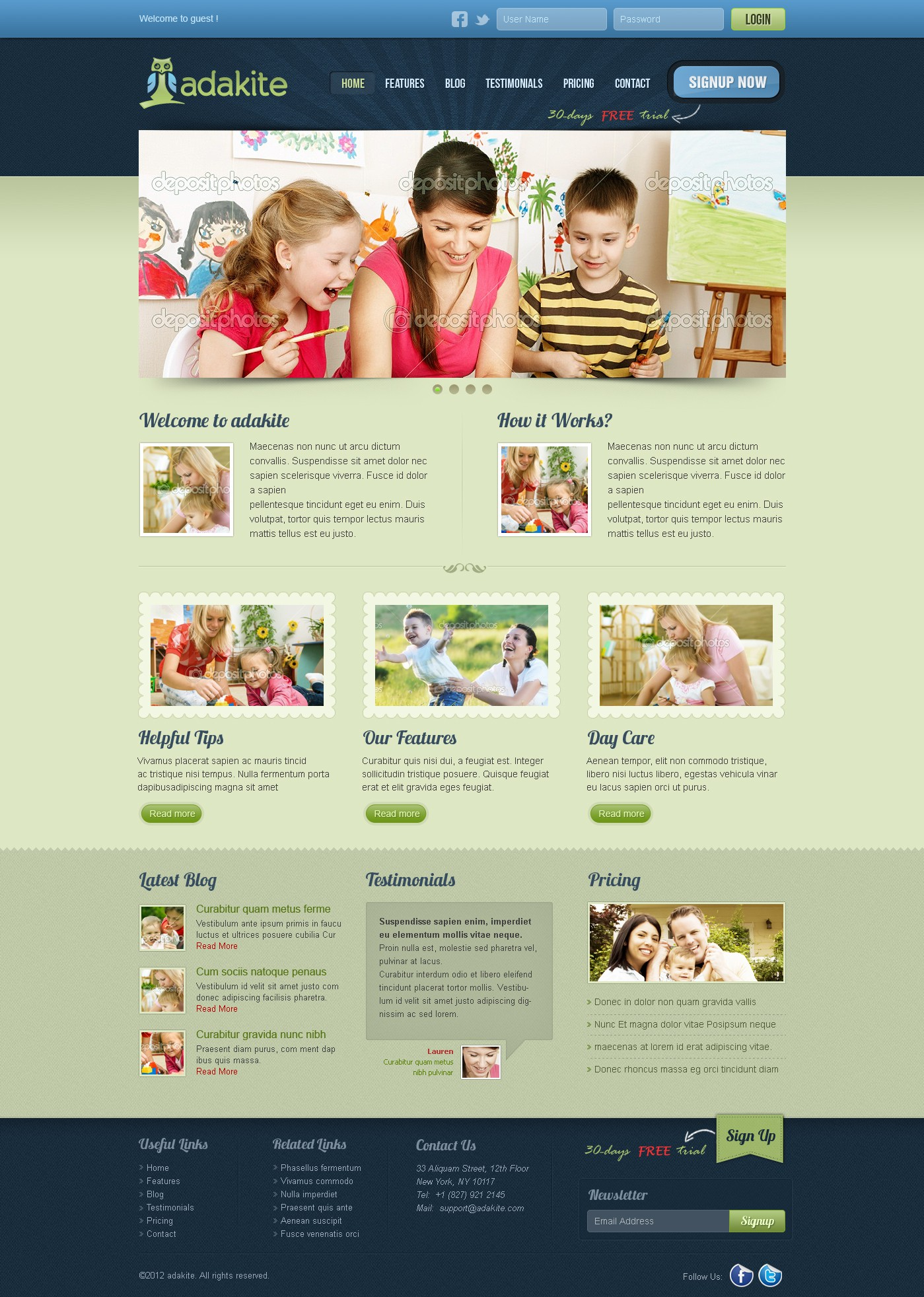 adakite needs a new website design