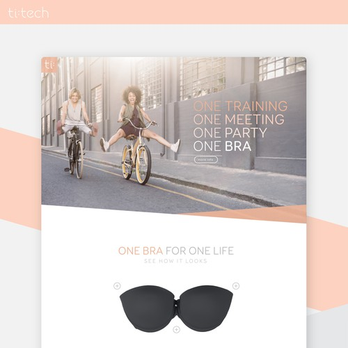 Revolutionary all-in-one bra product needs a landing page
