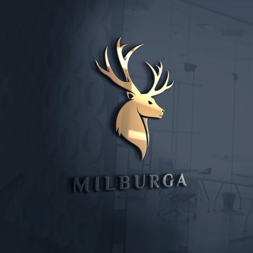bold logo concept for Milburga