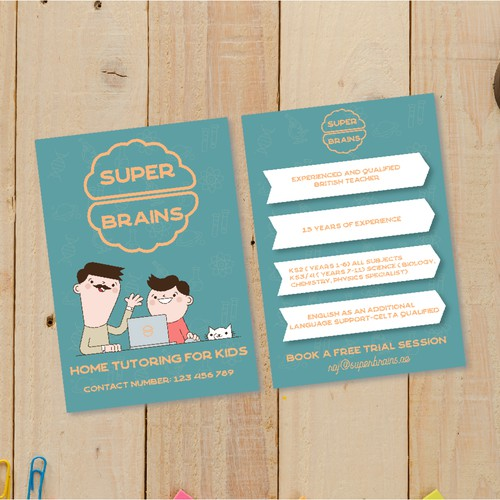 Super brains A5 two sides flyer