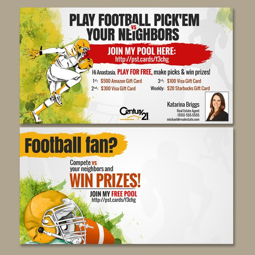 Design a Post Card for an (American) Football Pick'em Pool