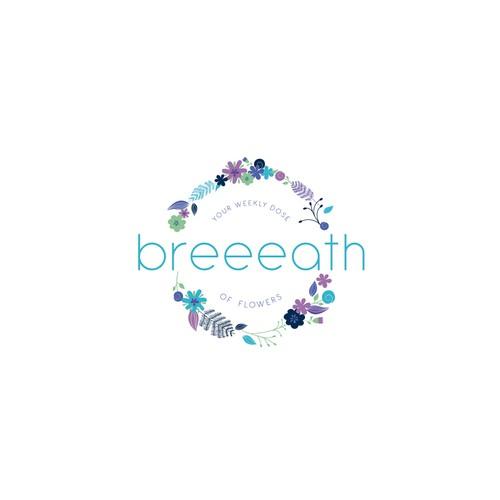 Bold logo for flowers shop