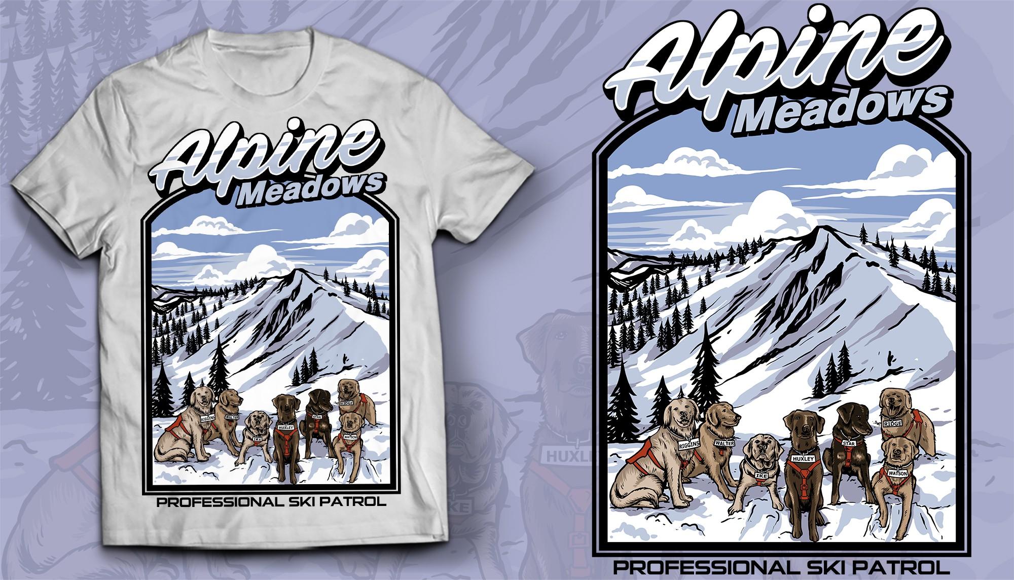 Avalanche Rescue Dog Non-Profit T-shirt Design