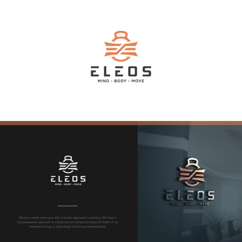 Stylish and simple logo design for a niche gym