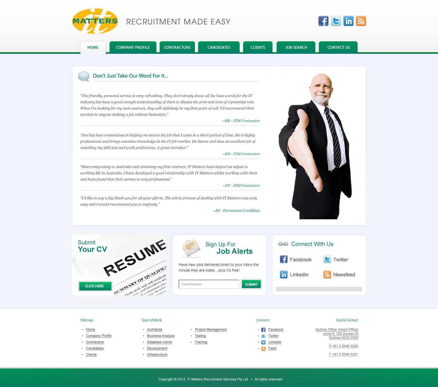 IT Matters needs a new website design for 2012
