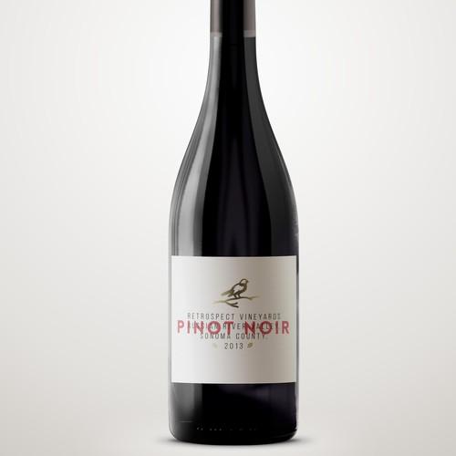 Contemporary Label for Premium Wine